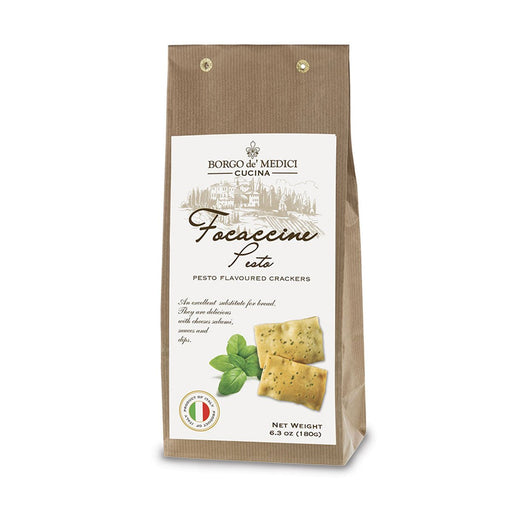 Borgo de Medici Focaccine Crackers with Pesto, 6.3 oz (180 g)