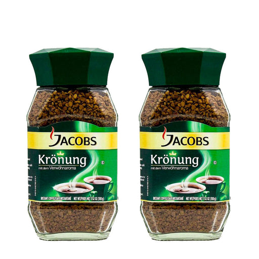 2 Pack Jacobs Kronung Instant Coffee, 3.5 oz (100 g)