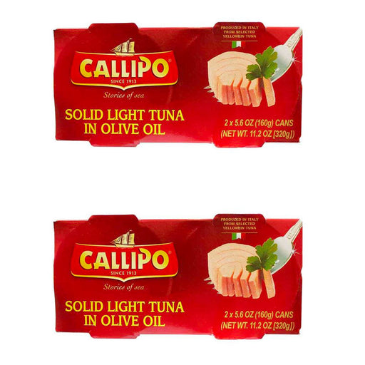 Italian Canned Tuna in Olive Oil Callipo 5.6 Oz (Pack of 4)