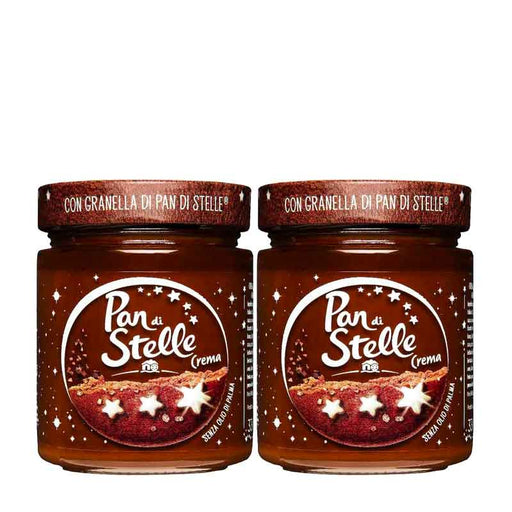 FREE SHIPPING | 2 PACK Pan Di Stelle Cream, Cocoa Hazelnut Spread, 100% Italian Hazelnut, Made in Italy, Chocolate Spread, 11.6 oz (330 g)