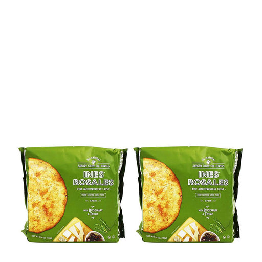 Ines Rosales Rosemary and Thyme Savory Olive Oil Tortas (2 PACK 12 Tortas total)