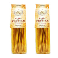 Morelli Italian Pasta Truffle Linguine Wheat Germ,Linguine Tartufo, 100% Handmade In Italy All Natural 8.8 Ounce / 250g (2 pack)