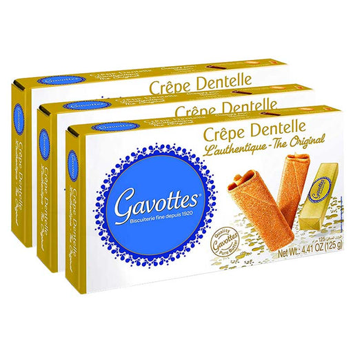 Free Shipping | 3-Pack Gavottes Crepe Dentelle Cookies (4.4 oz x 3)