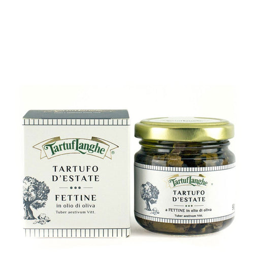Tartuflanghe Summer Truffle Slices in Olive Oil, Large, 3.2 oz (90 g)