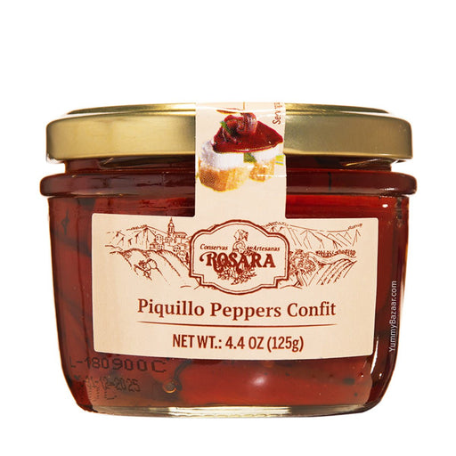 Rosara Whole Piquillo Peppers, 4.4 oz (125 g)