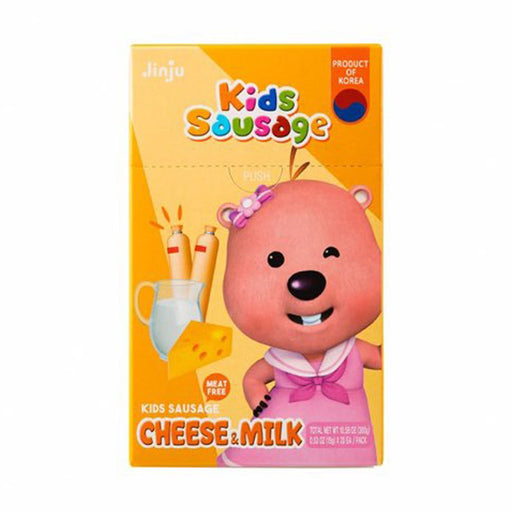 Jinjuham Pororo Kids Sausage with Cheese and Milk Flavor, 10.6 oz (300 g)