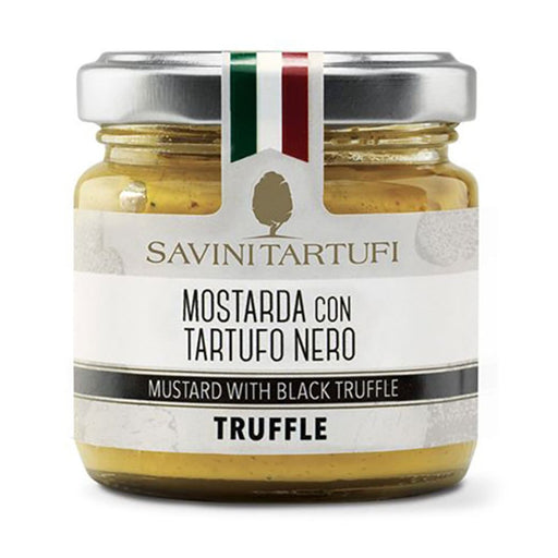 Savini Tartufi Mustard with Black Truffle, 3.2 oz (90 g)