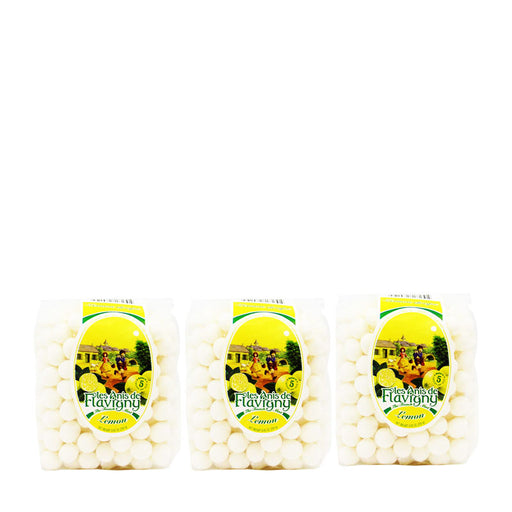 3 Pack Anis de Flavigny Lemon Flavored Anise Candy 8.8 oz. (250 g)