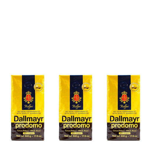 3 Pack Dallmayr Prodomo Whole Bean Coffee, 17.6 oz (500 g)