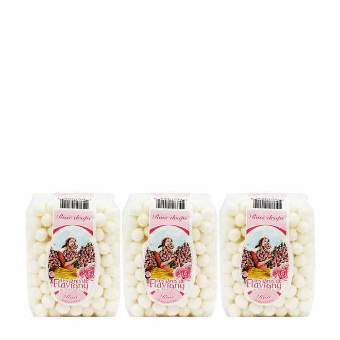 Les Anis de Flavigny Rose Flavored Anise Candy 8.8 oz. (250 g) 3 PACK