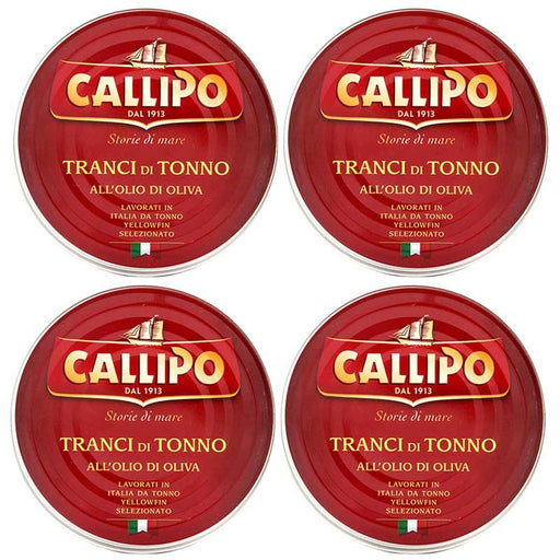 FREE Shipping 4-Can Large Callipo Tuna in Olive Oil (5.6 oz x 4 cans)