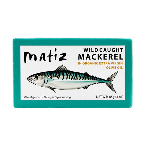 Matiz Mackerel in Organic Extra Virgin Olive Oil, 3 oz (85 g)
