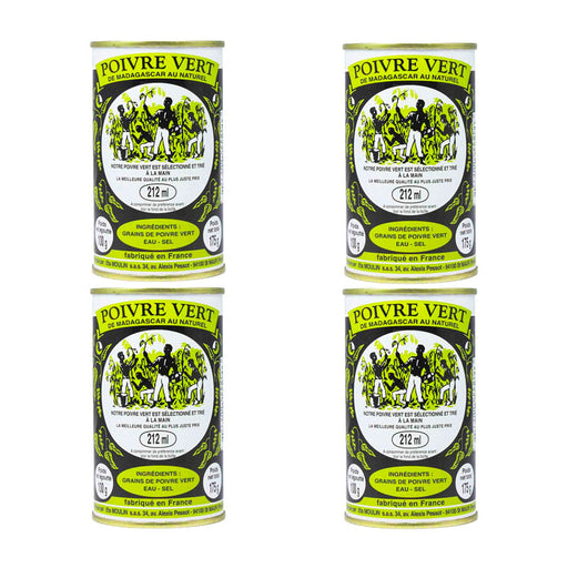 Madagascar Green Peppercorns in Brine by Moulin 3.5 oz PACK OF 4