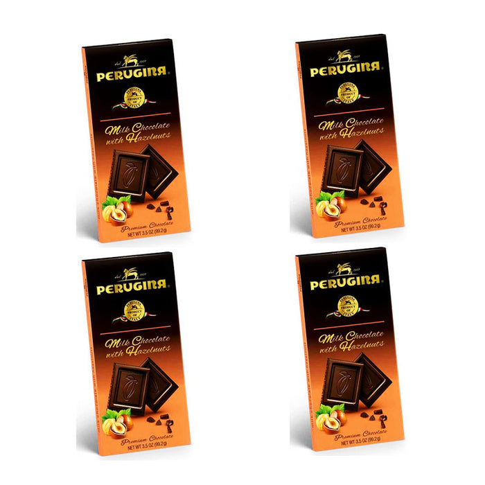 Perugina Milk Chocolate & Hazelnuts Bar 3.5 oz, 4 Pack