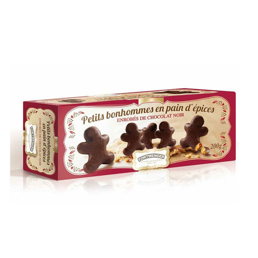 Fortwenger Little Gingerbread Man coated with Dark Chocolate, 7 oz (200 g)