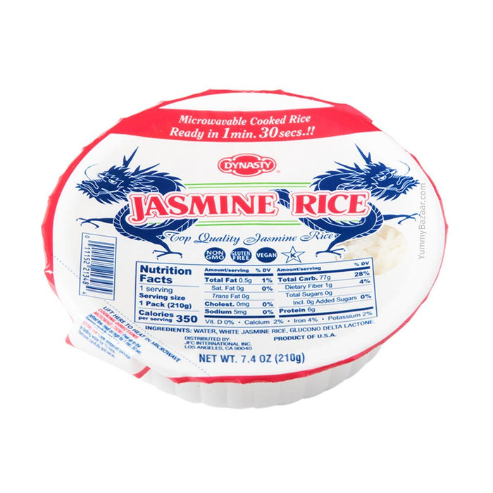 Dynasty Jasmine Cooked Rice, 7.4 oz (209.7865 g)