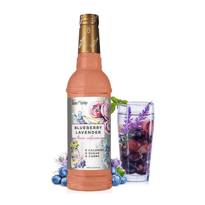 Blueberry Lavender Skinny Syrup Flavor Infusion by Jordan's Skinny Mixes, 25.4 fl oz (750 ml)