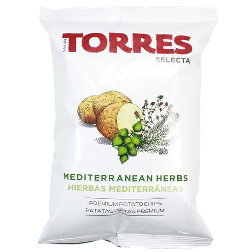 Large Torres Mediterranean Herb Potato Chips, 5.29 oz (150 g)