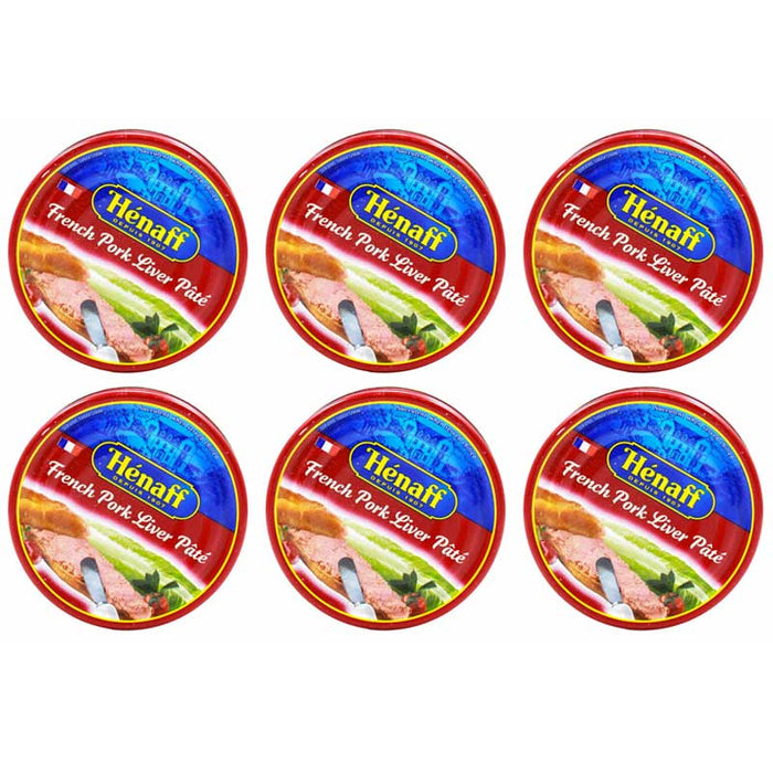 6-Pack Henaff French Pork Liver Pate (4.5 oz. x 6)
