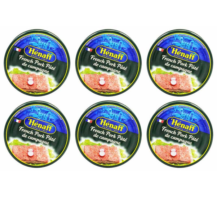 Free Shipping | 6-Pack Henaff French Pork Pate De Campagne (4.5 oz. x 6)