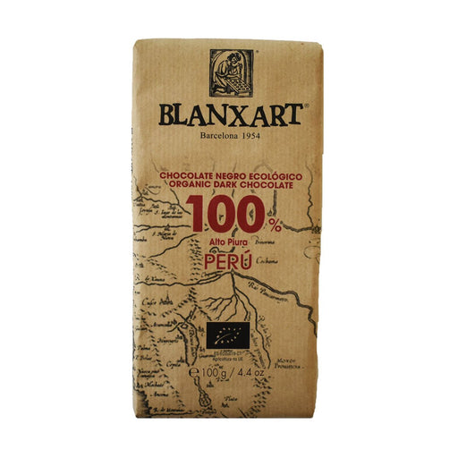 Blanxart 100% Peru Organic Dark Chocolate, 3.5 oz (100 g)