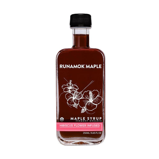 Runamok Maple Hibiscus Flower Infused Maple Syrup, 8.45 fl (250 g)