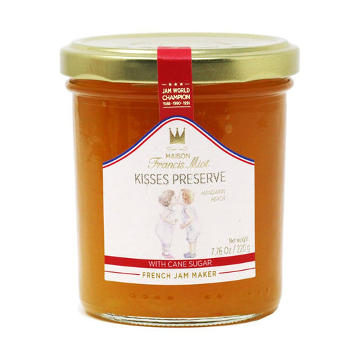 Francis Miot Kisses French Peach and Clementine Preserve, 7.8 oz (220 g)