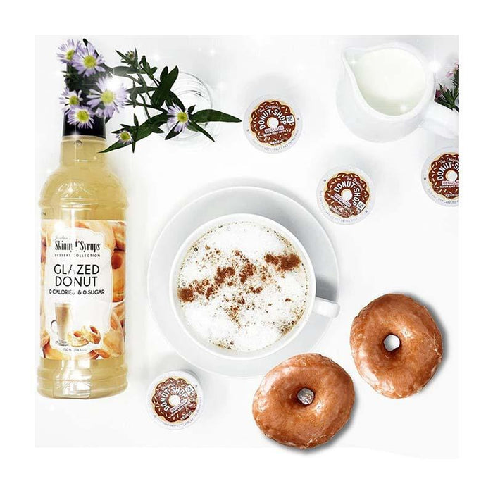 Sugar Free Glazed Donut Syrup by Jordan's Skinny Mixes, 25.4 fl oz (750 ml)