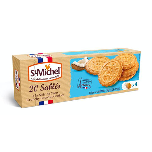 St. Michel French Coconut Sables Cookies, 4.2 oz (120 g)