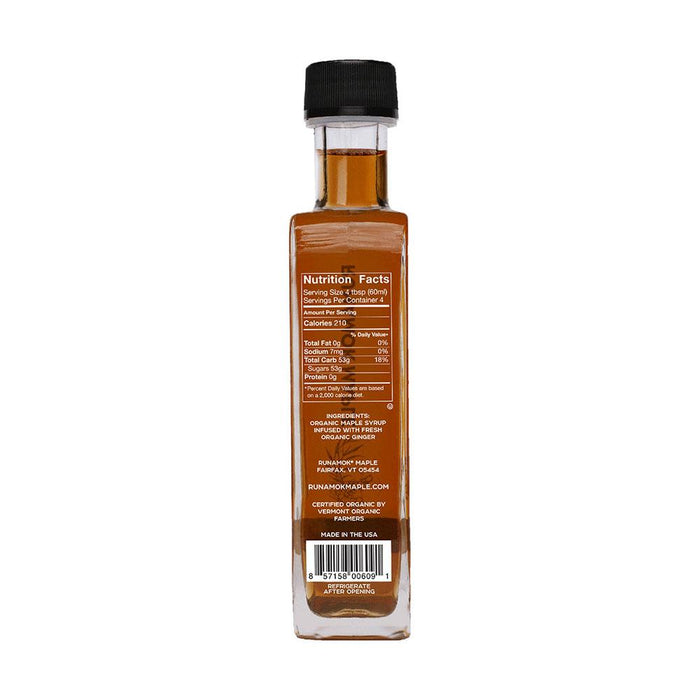 Runamok Maple Ginger Root Infused Maple Syrup, 8.45 fl (250 g)