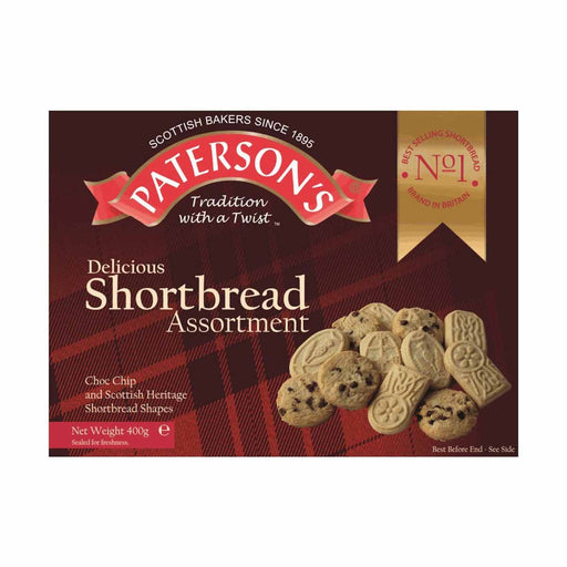 Paterson's Chocolate Chip and Scottish Heritage Shortbread Assortment, 14 oz (400 g)