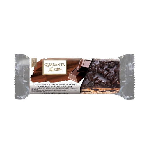 Quaranta Mini Soft Nougat with Dark Chocolate, 1.8 oz (50 g)
