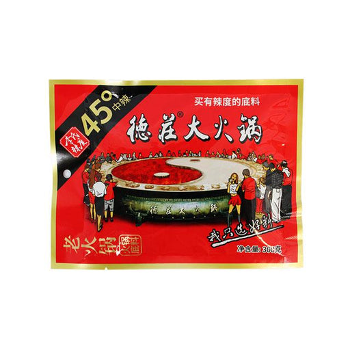 Dezhuang Hot Pot Soup Base, Spicy, 300.0 g (10.6 oz)