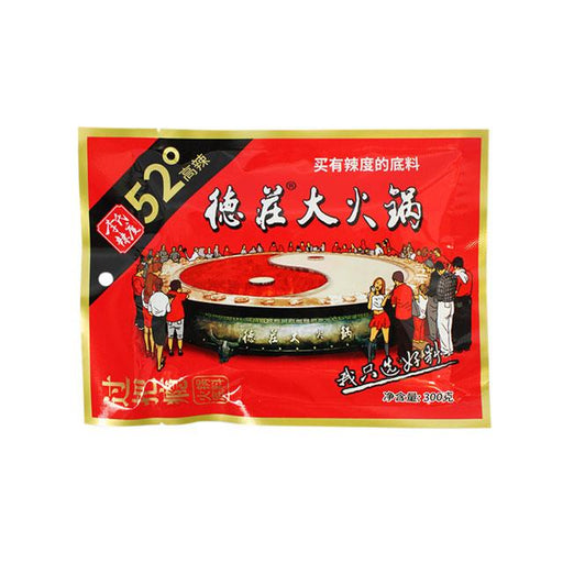 Dezhuang Hot Pot Soup Base, Extra Spicy, 300.0 g (10.6 oz)