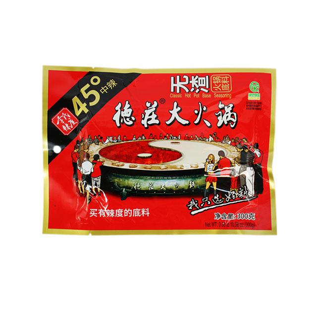 Hot Pot Base, Super Spicy by Dezhuang, 300.0 g (10.6 oz)