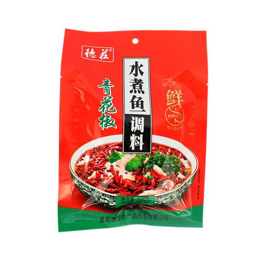 Hot Fish Sauce with Green Pepper by Dezhuang, 220.0 g (7.8 oz)