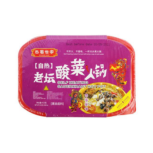 Sauerkraut Hot Pot, Self Heating by Sichuan King, 415.0 g (14.7 oz)