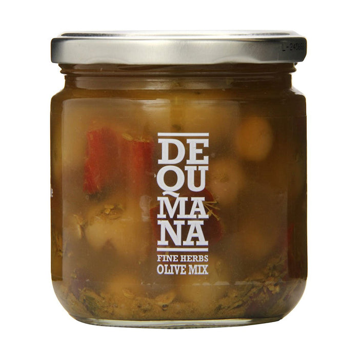 Dequmana Mixed Olives and Herbs, 12 oz (340 g)
