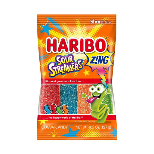 Haribo Sour Streamers Gummy Candy, 4.5 oz (127 g)