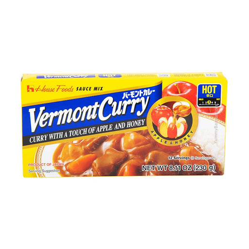 House Foods Vermont Curry Sauce, Hot, 8.1 oz (229.6311 g)