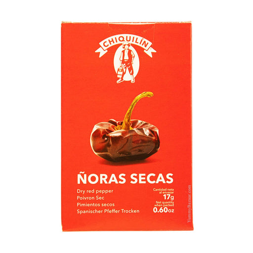 Chiquilin Dried Spanish Noras Peppers, 0.6 oz (17 g)