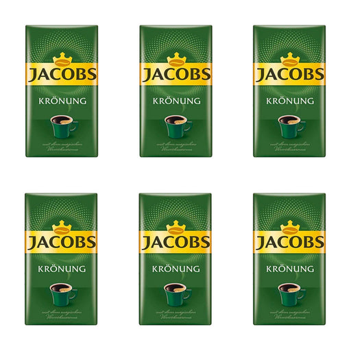 6 Pack Jacobs, 8.8 oz, Kronung Ground Coffee, (250g)