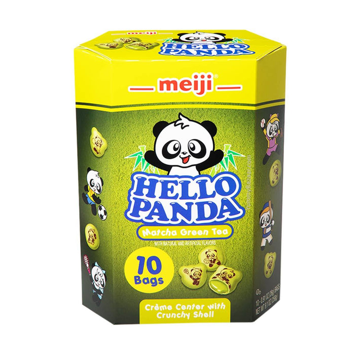 Meiji Hello Panda Biscuit with Matcha Cream Filling, 9.1 oz (257.9807 g)