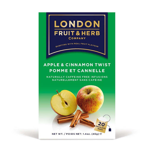 London Fruit & Herb Apple Cinnamon Twist Tea 20 Tea Bags, 1.4 oz (40 g)