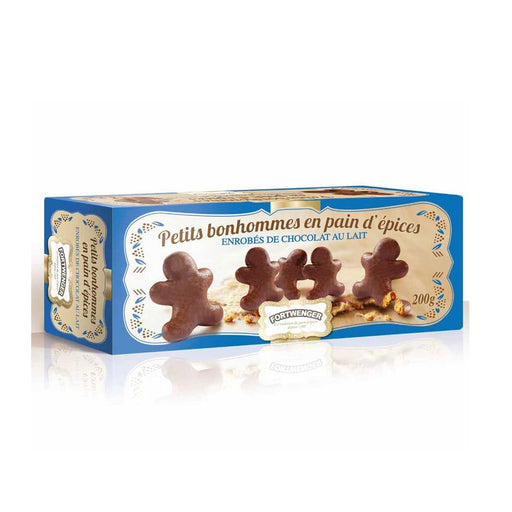 Fortwenger Little Gingerbread Man coated with Milk Chocolate, 7 oz (200 g)