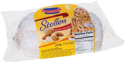 Luxury Marzipan Stollen Small - Cello by Kuchenmeister, 7 oz (200 g)