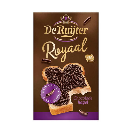 De Ruijter Royaal Chocolate Hagel Dark Sprinkles, 13.4 oz (380 g)