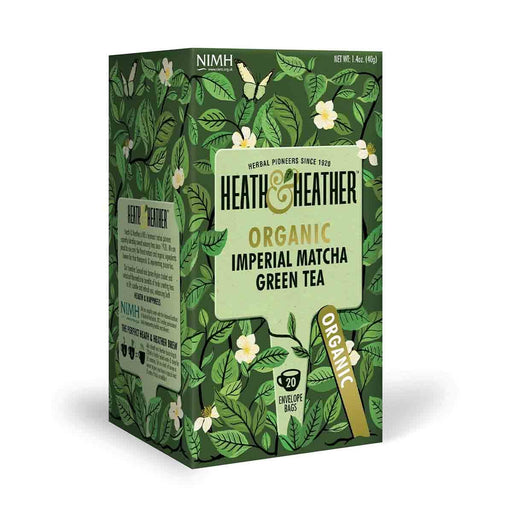 Heath & Heather Organic Imperial Matcha Green 20 Tea Bags, 1.4 oz (40 g)