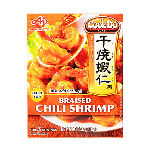 Ajinomoto CookDo Braised Shrimp Chili Sauce, 3.8 oz (107.7282 g)