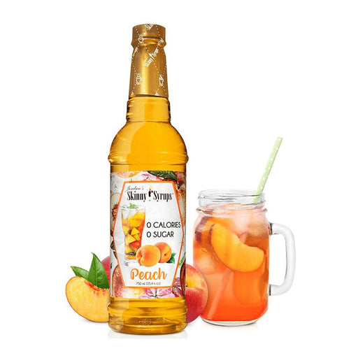 Sugar Free Peach Syrup by Jordan's Skinny Mixes, 25.4 fl oz (750 ml)